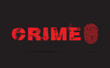 Crime prevention with fingerprint on a black background