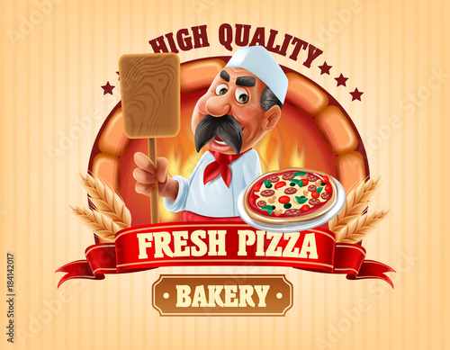 fresh pizza and bakery shop