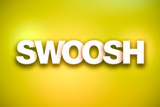Swoosh Theme Word Art on Colorful Background - 184143290
