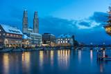 Zürich Stadtansicht am Abend - 184147285