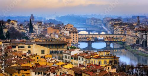 Deurstickers Toscane Ponte Vecchio bridge over Arno river in Old Town Florence, Italy