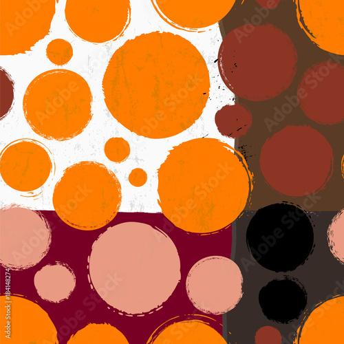Aluminium Abstract met Penseelstreken seamless background pattern, with circles, paint strokes and splashes