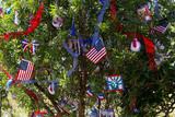 patriotic christmas tree in fort Myers, Florida, usa - 184150606