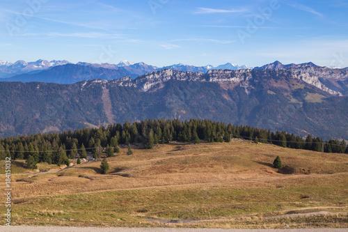 Keuken foto achterwand Blauwe hemel Montagnes