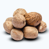heap of nutmegs isolated on white background - 184155474