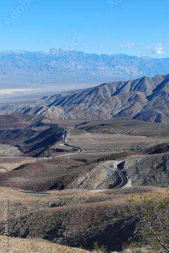 Foto op Canvas Blauw desert mountains