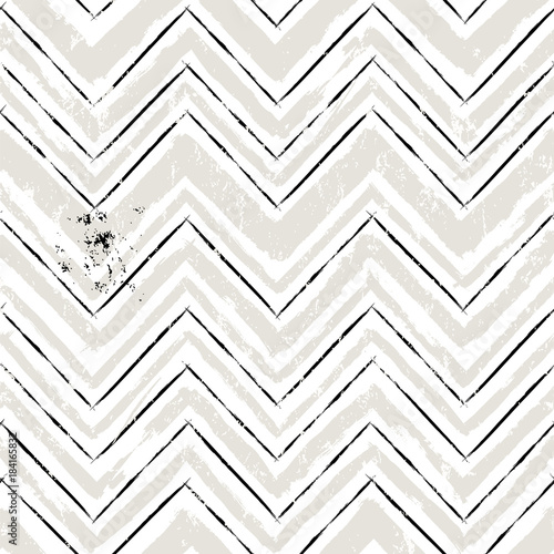 Aluminium Abstract met Penseelstreken abstract geometric background with paint strokes and splashes, zigzag pattern, seamless