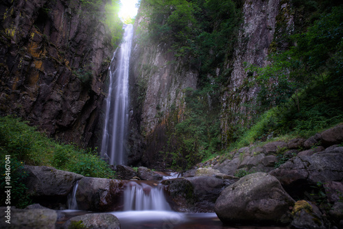 beautiful natural concept with waterfall in the forest - 184167041