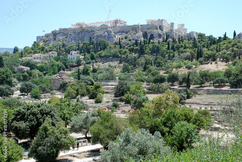 Panorama view of the Acropolis, Athens, Greece