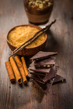 Baking ingredients with chocolate - 184177090