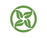 leaf green nature logo and symbol template Vector - 184191215