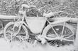 Fahrrad im Schnee - 184195607