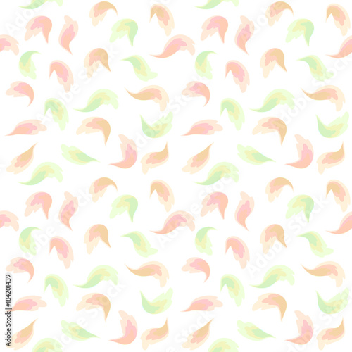Fototapeta Raster seamless pattern with watercolor lures of modern colors in pastel colors
