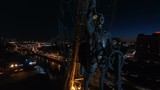 Monument to Peter the Great in Moscow at night - 184204094