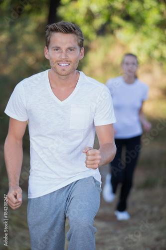 Deurstickers Jogging young man jogging