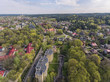 Aerial view over Vilnius Antakalnis district, Lithuania. During early spring time. - 184216433