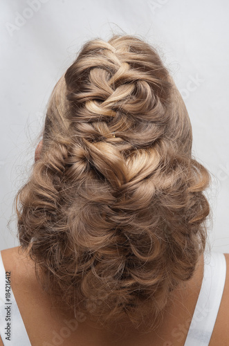 Foto op Aluminium Kapsalon Hairstyle..