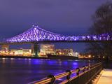 Jacques Cartier Bridge illuminated at night - 184219816