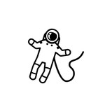 Astronaut on space Icon. Elements of space Icon. Premium quality graphic design. Signs, symbols collection, simple icon for websites, web design, mobile app - 184220231