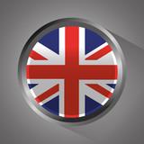 united kingdom flag badge round button vector illustration - 184226048