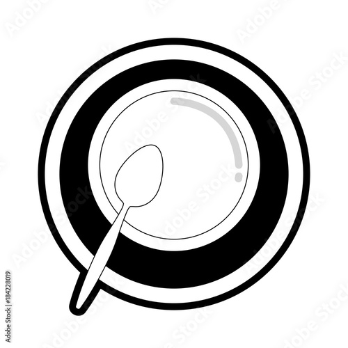bowl of soup vector illustration