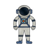 Astronaut cartoon isolated - 184229427