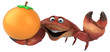 Fun crab - 3D Illustration - 184237498