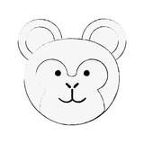 Cute monkey cartoon icon vector illustration graphic design - 184237631
