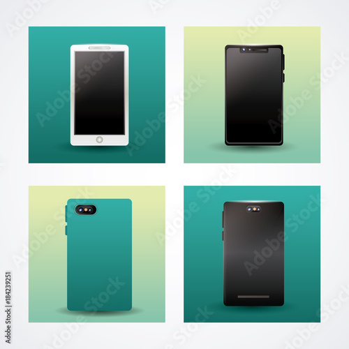 Technology devices icons icon vector illustration graphic