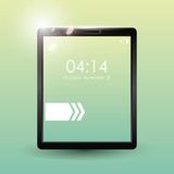Tablet mobile technology icon vector illustration graphic - 184239428