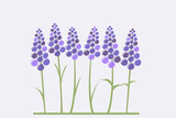 Greeting card with stylized lavender - 184239844