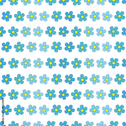 Forget-me-not flowers seamless pattern - 184239806