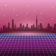 The 80s landscape style vector illustration graphic design - 184240017