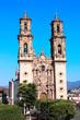 Facade of Santa Prisca Parish Church, Taxco de Alarcon city, Mexico