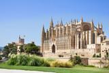The Cathedral of Santa Maria of Palma and Parc del Mar, Majorca, Spain - 184244607