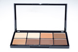 palette of eight different contour shades on white background - 184244635