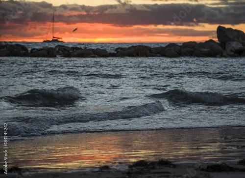 Poster Zee zonsondergang Perth seascape