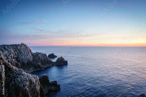 Poster Zee zonsondergang Menorca Sunset