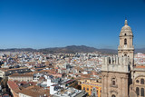 Malaga skyline with Cathedral tower in background - 184247838