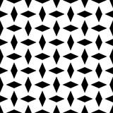 Black geometric ornament on white background. Seamless pattern