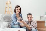 Couple building their house - 184252039
