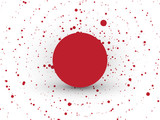 abstract red circle dots background