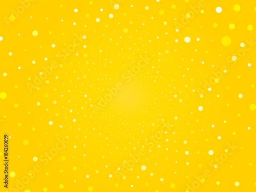 streszczenie żółte kółko kropkuje tło