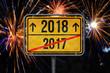 2017-2018 Feuerwerk Silvester Ortsschild