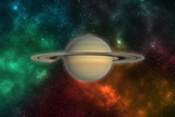 Saturn planet in outer space. Elements of this image furnished by NASA - 184272211