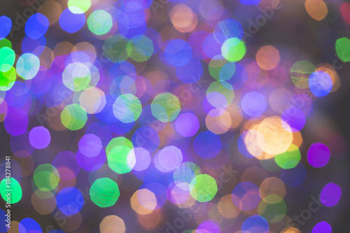Colorful City light background, unreal halo - 184278841