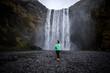 Landscape around Skogafoss waterfall in Iceland  - 184280029