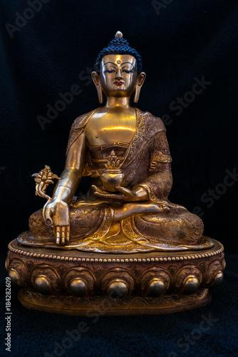Aluminium Boeddha Goldener Buddha