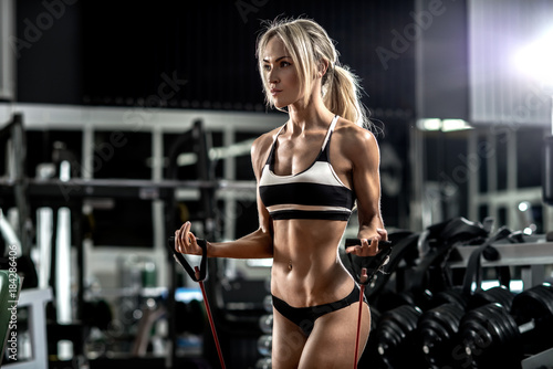 Póster young fitness woman