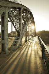 Bridge between Kazimierz and Podgorze in Krakow city, Poland